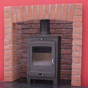 brick fireplace chamber