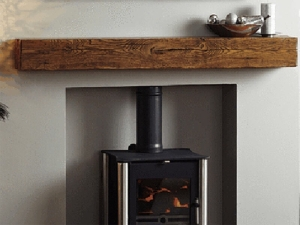 woodburner fireplace beam