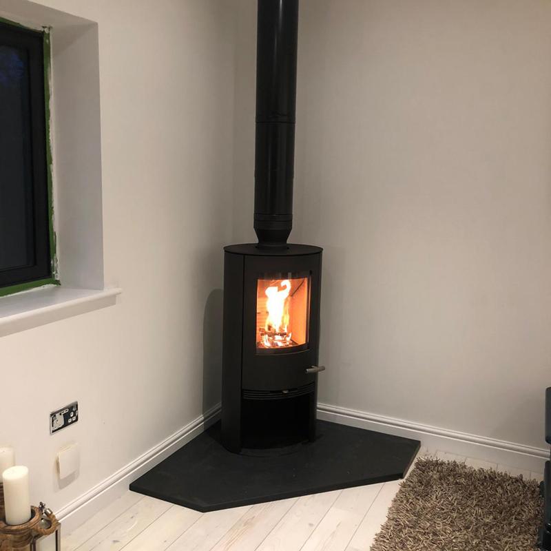 modern woodburner cheshire